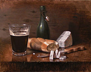 Food And Drink Paintings - Stilton and Porter by Timothy Jones