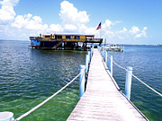 Wahoo Photo Prints - Stiltsville Dock Print by Carey Chen