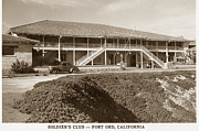 Enlisted Framed Prints - Stilwell Hall Soldiers Club Fort Ord Army Base Monterey Calif. 1950 Framed Print by California Views Mr Pat Hathaway Archives