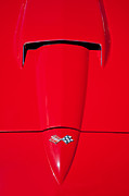 Automobile Photo Prints - Sting Ray Hood Print by Peter Tellone