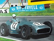 Stirling Moss Framed Prints - Stirling First Framed Print by Kieran Roberts