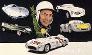 Stirling Moss Framed Prints - Stirling Moss Framed Print by Kevin Waite
