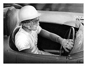 Stirling Moss Framed Prints - Stirling Performance Framed Print by Lyle Brown