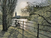 Urban Nature Study Digital Art Metal Prints - Stockholm 10 Metal Print by Yury Malkov