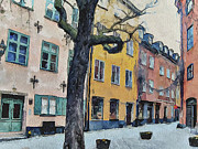 Urban Nature Study Digital Art Metal Prints - Stockholm 14 Metal Print by Yury Malkov