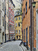 Urban Nature Study Digital Art Metal Prints - Stockholm 15 Metal Print by Yury Malkov