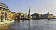 Urban Nature Study Prints - Stockholm 7 Print by Yury Malkov