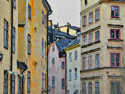 Urban Nature Study Digital Art Metal Prints - Stockholm 8 Metal Print by Yury Malkov