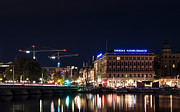 Stockholm Digital Art - Stockholm by night by Timo Peter Gronlund