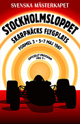 Sweden  Digital Art Posters - Stockholm Formula 3 1967 Poster by Nomad Art And  Design