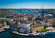 Inge Johnsson Framed Prints - Stockholm from Above Framed Print by Inge Johnsson