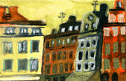 Old Town Pastels - Stockholm Sketch 1 by Erik Pearson