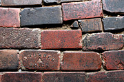 Brick Drawings Prints - Stockyards Brick Print by Michelle Wolff