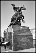 Stockyards Posters - Stockyards Statue Poster by Ricky Barnard