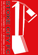 Home Football Game Posters - Stoke City Premier League Football Club Poster by Neil Finnemore