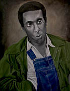 Activist Painting Prints - Stokely Carmichael aka Kwame Toure Print by Chelle Brantley