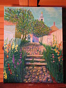 Nantucket Paintings - Stone Alley by Heather Gwyn Twomey