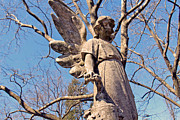 Headstone Photos - Stone Angel by Felix Concepcion