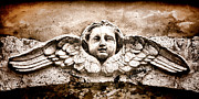 Bas-relief Framed Prints - Stone Angel Framed Print by Olivier Le Queinec