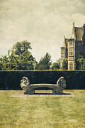 Garden Photo Metal Prints - Stone Bench Metal Print by Joana Kruse