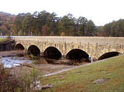 Arched Bridge Photos - Stone Bridge by Ann Powell