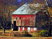 Old Barns Framed Prints - Stone Bridge Barn Framed Print by Joyce  Kimble Smith