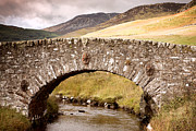 Bank; Clouds; Hills  Prints - Stone Bridge Highlands  Print by Jane Rix