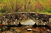 Arkansas Photo Posters - Stone Bridge in the Ozarks Poster by Benjamin Yeager