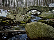 Stone Bridge Posters - Stone Bridge in Winter Poster by Mark Miller