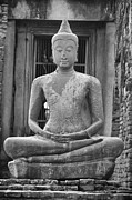 Thai Photos - Stone Buddha by Adam Romanowicz