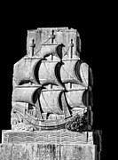 Acapulco Posters - Stone Carving Old Sailing Ship Poster by Linda Phelps