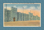Virginia Postcards Posters - Stone Castle Bristol TN built by WPA Poster by Denise Beverly