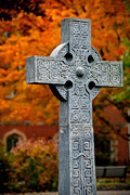 Autumn Framed Prints - Stone Cross Duquesne University Framed Print by Amy Cicconi