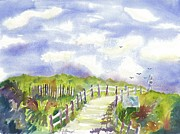 Path To The Beach Prints - Stone Harbor Beach Path Print by Brenda Dolhanczyk