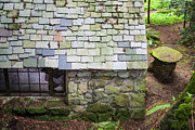 Charming Cottage Posters - Stone House In The Forest Poster by Priya Ghose