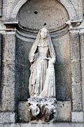 Religious Art Photos - Stone Nun by Olivier Le Queinec