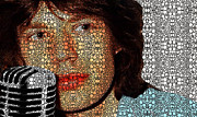 Pop Singer Mixed Media - Stone Rockd Stone - Mick Jagger Tribute by Sharon Cummings by Sharon Cummings