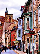 Small Towns Metal Prints - Stone Row - Jim Thorpe PA Metal Print by Jacqueline M Lewis
