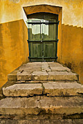 Medieval Entrance Posters - Stone Stair Entranceway  Poster by David Letts