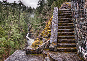 British Columbia Posters - Stone Stairs To Nowhere Poster by James Wheeler