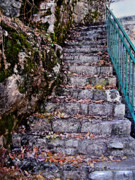 Abandoned Digital Art - Stone Stairway by Jane Schnetlage
