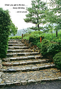 Inspirational Saying Photos - STONE STEPS in KYOTO GARDEN by Daniel Hagerman