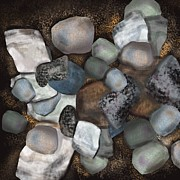 Stone Thoughts Print by Christine Fournier