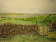 New Britain Painting Posters - Stone Wall Poster by Jeff Lucas
