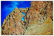Colorado Mountain Posters Framed Prints - Stone Walls LaVeta Colorado Framed Print by Barbara Chichester