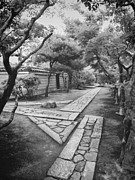 Stone Path Photos - Stone Zen - Kyoto Japan by Daniel Hagerman