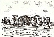 Henge Paintings - Stonehenge by Anthony Fox