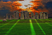 Arthurian Legend Prints - Stonehenge at Solstice Print by Skye Ryan-Evans