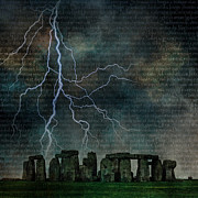 Stonehenge Digital Art Prints - Stonehenge Print by Bruce Rolff