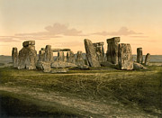 Winter Solstice Posters - Stonehenge circa 1895 Poster by Digital Reproductions